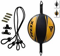 RDX Leather Double End Dodge Speed Ball MMA Boxing Floor to Ceiling Punch Bag J
