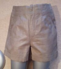 TOPSHOP GREY PU Faux Vegan LEATHER SHORTS M uk12 eu38 us8 Waist w31ins w79cms