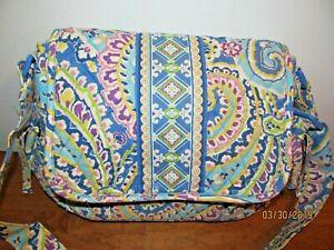 Vera Bradley Capri Blue Purse Crossbody Hand Bag