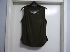 Beautiful Next womens army green Embroidered Rear Open Top UK 12 RRP-£24