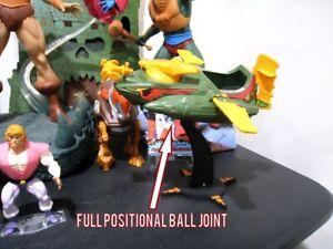Masters of the Universe Figure MOTU Original Wind Raider Black Stand Display Kit