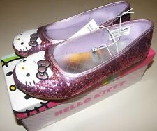 Hello Kitty Shoes 3 Girl Pink Glitter Sparkle Slippers Sanrio NEW