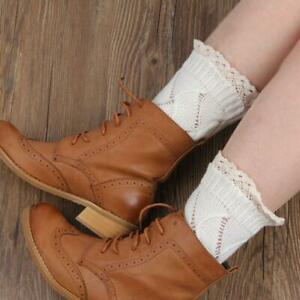 Soft Boot Topper For Women Warm Stretch Knitted Solid Lace Knit Leg Warmers N3