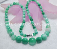 """Light Green 6-14MM Natural Green Jade GEMS BEADS NECKLACE 18"""" JN722"""