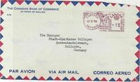 Canada 1958 The Canadian Bank Of  Commerce Airmail Stamps Cover FRONT R 17679