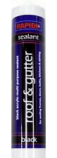 New Black Roof & Gutter Sealant Waterproof Silicone Cartridge All Weather 270ml