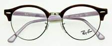 RAY-BAN RB4246V 5240 CLUBMASTER EYEGLASS FRAME Havana Purple RB4246V 5240 49mm