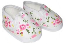 Floral Slip on Sneakers Fits 18 inch American Girl Dolls