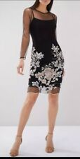 BNWT COAST BLACK SANSA EMBROIDERED PARTY, OCCASION DRESS SIZE 14