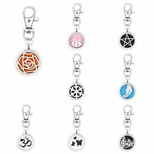 1p 30MM new magnetic pendant alloy essential oil diffuser key chain locket+5pads