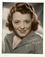 1932 Promo Photo JANET GAYNOR First Best Actress Oscar Color Movie Studio Promo