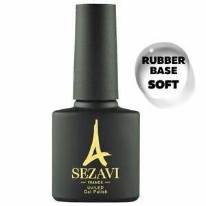 SEZAVI Gel Nail Polish Rubber Base, Top Shine, Top Stars, Glitter Top UV LED