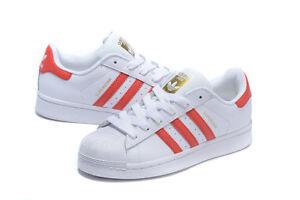 Adidas Originals Superstar Foundation Shoes Running White /Light Scarlet B27139