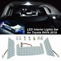 Car White LED Interior Upgrade Light Lamp Bulb Kit for Toyota RAV4 2019 202 C1T1