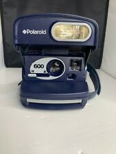 Polaroid 600 Instant Film Camera, Blue, w/ Close-up Setting, Tested Works