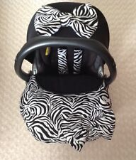 winter car seat cover footmuff ZEBRA BOW apron harness covers hood bow blanket