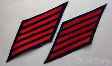 US Navy USN Cloth Service Stripes, Red on Blue