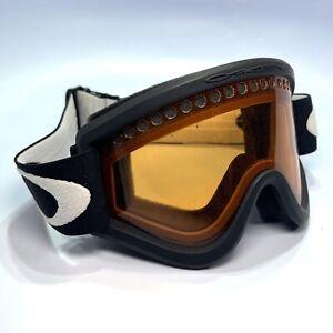 Oakley Ski Goggles Orange Lenses Lens Black Strap Snowboard Snow
