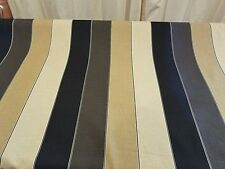 "Ashley Wilde Brown Black Stripe Upholstery Home Decor BTY Designer Fabric 54"""