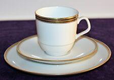 Eschenbach Kaffeegedeck 3-teilig Dekor 7976 weiß m. zisiliertem Goldrand
