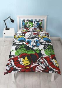 MARVEL Comics Squad Single Bedding Set Children Superhero Reversible Duvet Cover
