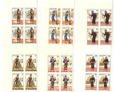 Blocks 4 Vietnam MNH, stamps 1987. Costumes of Tay Nguyen inhabitants