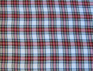 Tartan Plaid  Snowdon Craft Dress Fabric150 cm Wide fabric. FREE P&P