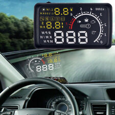 """Car Universal 5.5"""" HUD Head Up EU-OBD OBD2 Speed KM/h MPH RPM Display System"""
