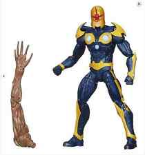 Nova-Guardians of the Galaxy Marvel Legends Infinite w/BAF Groot Arm by Hasbro
