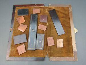 Antique or vintage writing slope & box compartment lids & sides Etc parts spares