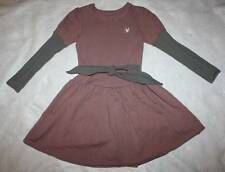 NWT Boutique No Added Sugar Pink & Gray Rabbit Delobel Dress 7 8 9 10