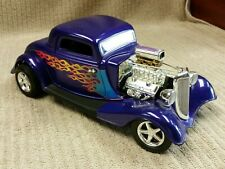ERTL 1934 FORD COUPE ROUTE 66 HOTROD 1:18 DIECAST Good Condition Free Shipping!!