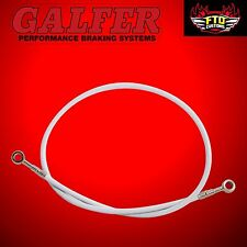 "Brake Line 36"" long White  for Extended Swingarms or Swingarm Extensions"