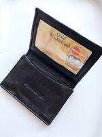 New Mens Bifold Leather ID Wallet Holder Black Credit Card Slim Thin