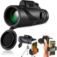 40X60 Zoom Optical Hd Lens Monocular Telescope + Tripod + Clip for Cell Phone Us