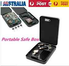 Portable Security Safe Box Password Cash/Jewelry Storage Case for Home Office AU