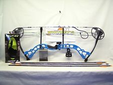 "Diamond by Bowtech - Prism Electric Blue Package- RH-5-55# 18-30"" Draw"