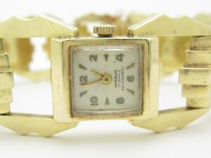 14k Yellow Gold Incabloc 17 Jewels Antimagnetic Vintage Estate Swiss Made Watch
