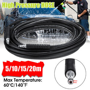 10-20M High Pressure Washer Extension Hose For Karcher K2 K3 K4 K5 K7 Series UK