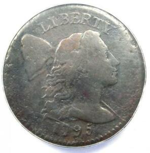 1795 Liberty Cap Large Cent 1C Coin - Certified ANACS VF20 Details - Rare Coin!