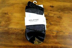 GOLD TOE Women's 2 of a 3 Pack  Shimmer Crew Socks Fits Shoe Size 6-9 Black