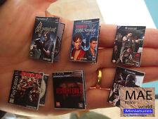 Resident Evil Miniature Video Games Collector's set. 16 Videogames. Scale 1/6