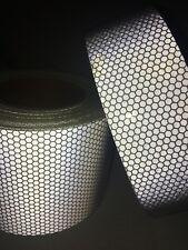 New Silver High Intensity Reflective Tape Vinyl Self-Adhesive 2.5cm×1m