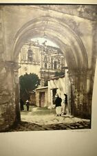 1930 Roberto Eichenberger Antigua Guatemala  Hand Colored Photograph Framed