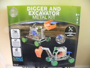 Science Squad Digger and Excavator Metal Kit (281 pieces) - NEW SEALED
