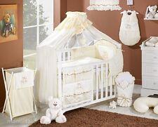 Lit à tiroir blanc pour bébé (set complet) set XXL de 16 pièces matelas parure.