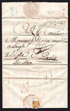 PREFILATELICA Stato Pontificio 1773 da Bologna per Parigi transito a Milano