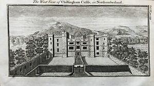 1769 Antique Print; Chillingham Castle, Northumberland