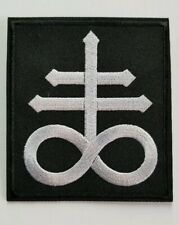 Leviathan cross  logo  embroidered  IRON ON , OR SEW  PATCH