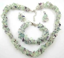 Natural Rainbow Fluorite Handmade Gemstone Jewellery Necklace earring Bracelet